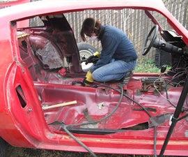 Front Frame Horn Brace - Building a Pure Stock Race Car - Part 1