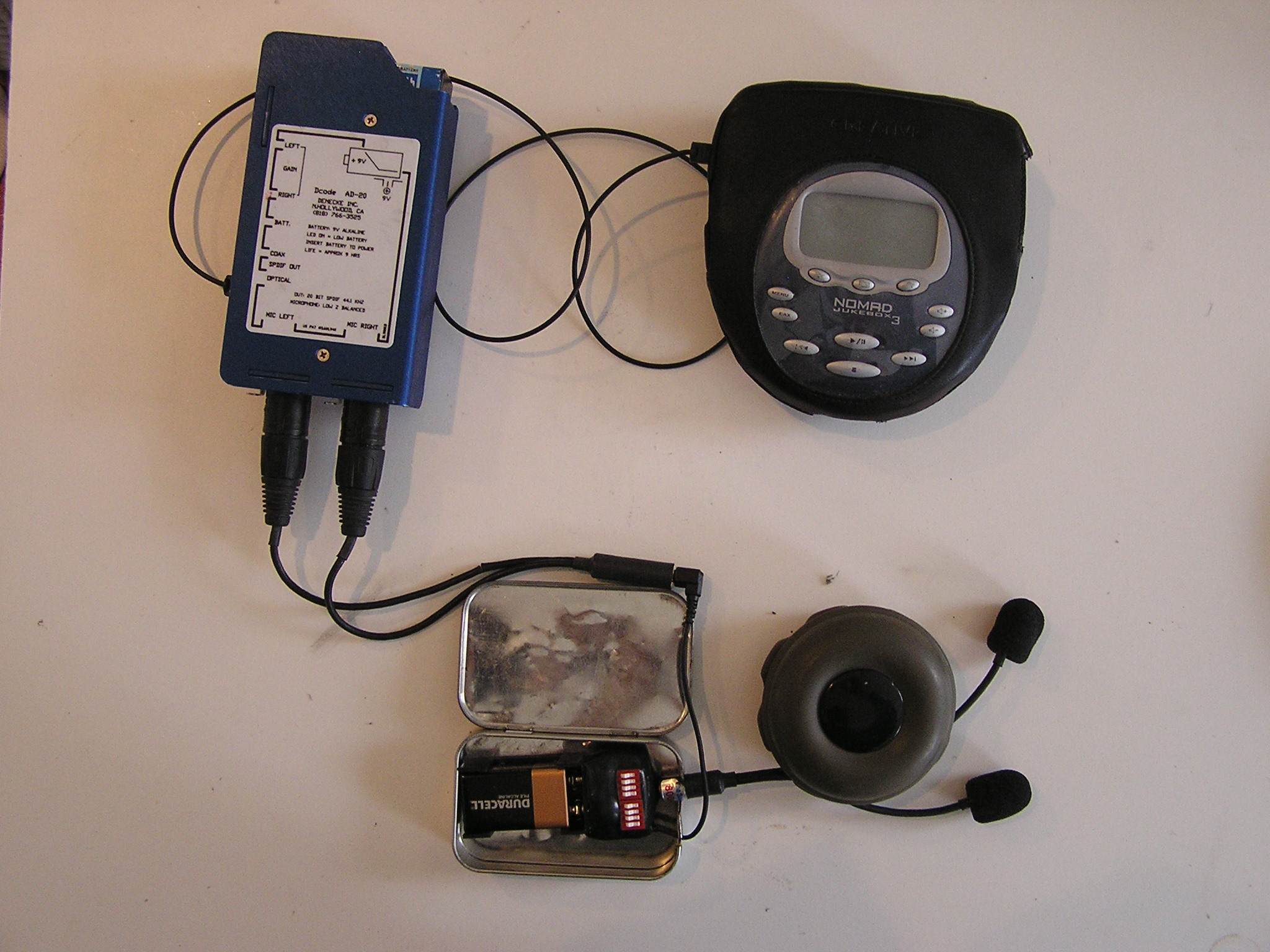 Picture of CD Quality Field Recording Rig