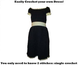 Beginners 2 stich Crochet Dress
