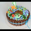 Fondant Sea Turtle Cake