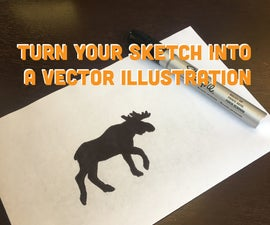 Turning a Sketch Into Vector Artwork