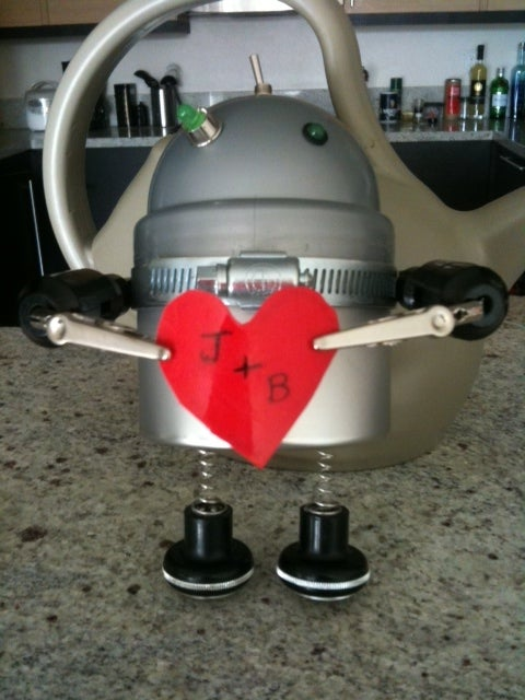 Found Object Valentines Robot