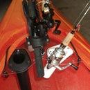 Kayak rod holder mount