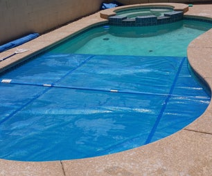 Make your own swimming pool blanket winder