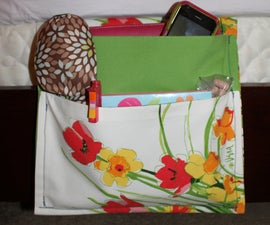 Easy Bedside Caddy Made from Two Placemats