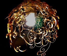 Swirly PVC Pendant Light