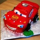 3D Lightening McQueen Cake