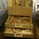 Lumber Storage Cart With Bottom Drawers