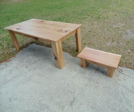 Scrapwood Table & Stool Set