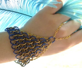 Chain Mail Hand Flowers