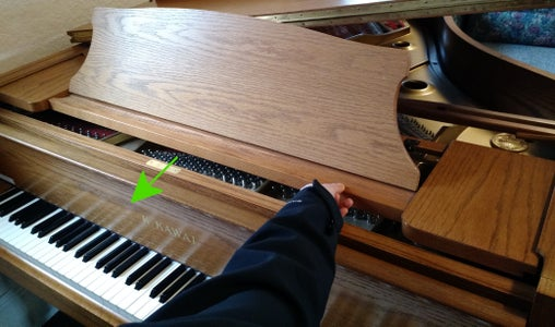 Remove Cover to Access Tuning Pins