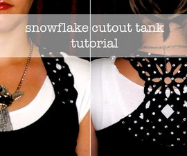 Snowflake Cutout Tank