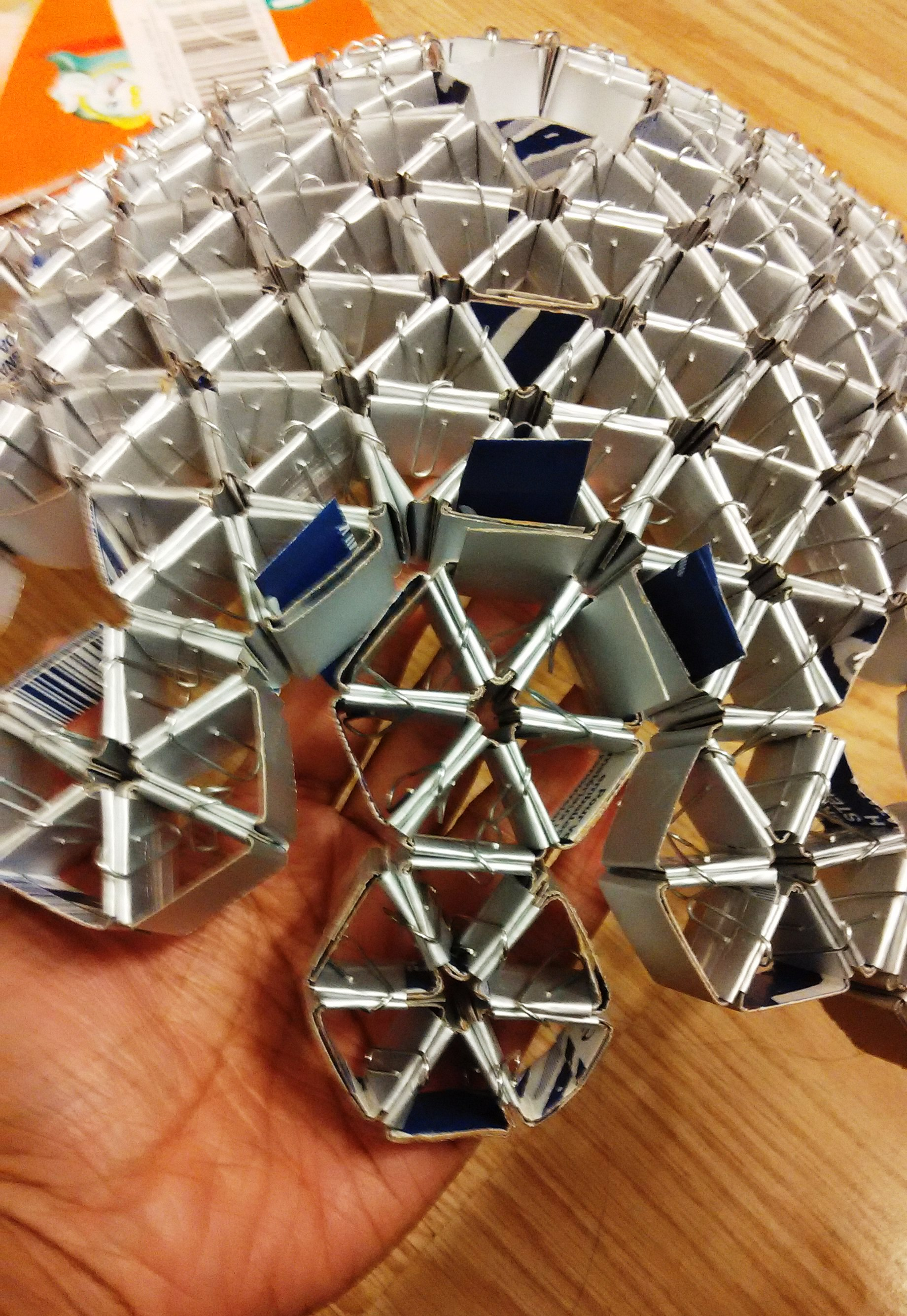 Picture of Forming the Hemispheres With the Help of Hexagons