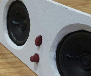 Wooden Computer Speaker Box