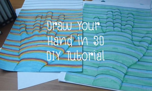 Draw Your Hand in 3D - DIY Tutorial