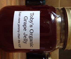 Delicious Organic Red Grape Jelly