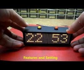 Arduino Nano Mini LED Matrix Clock
