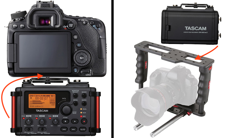 Picture of Mounting the Digital Audio Recorder