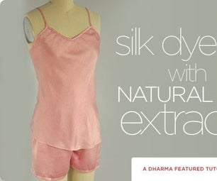 Silk Dyeing With Natural Dye Extracts