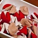 Felt fortune cookies Valentines