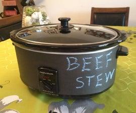 Chalkboard Crock Pot