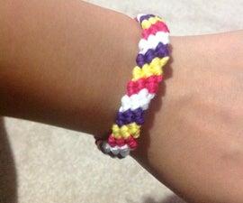 Friendship Bracelet/ Candy Stripe Design