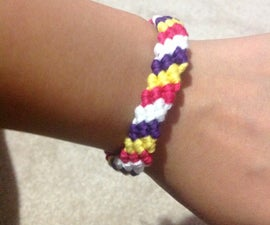 Friendship Bracelet/ Candy Stripe Design
