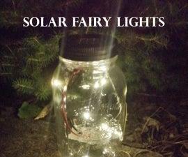 Mason Jar Solar LED Fairy Lights