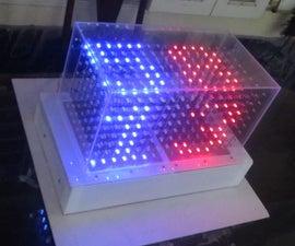 8x16x8 RED GREEN CUBE - HANDWRITTEN CLOCK
