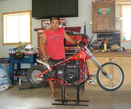 Walmart bicycle converted to a  chopper minibike