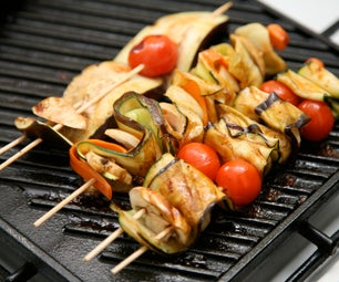 Skewered Undulated Vegetables