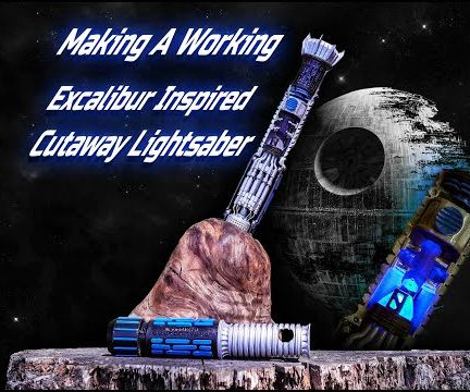 QnA VBage Excalibur Inspired Lightsaber in the Stone Cutaway