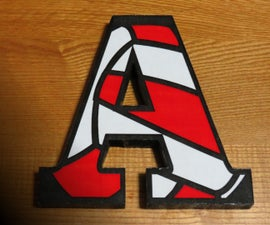 How to Add a Paper Image to Wood - Wood Letter