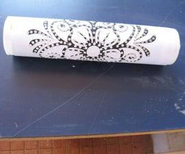 Rangoli Stencil With Waste Plastic Casing