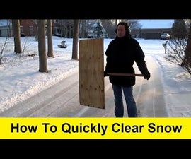 How to Quickly Clear Snow and Make a Gift