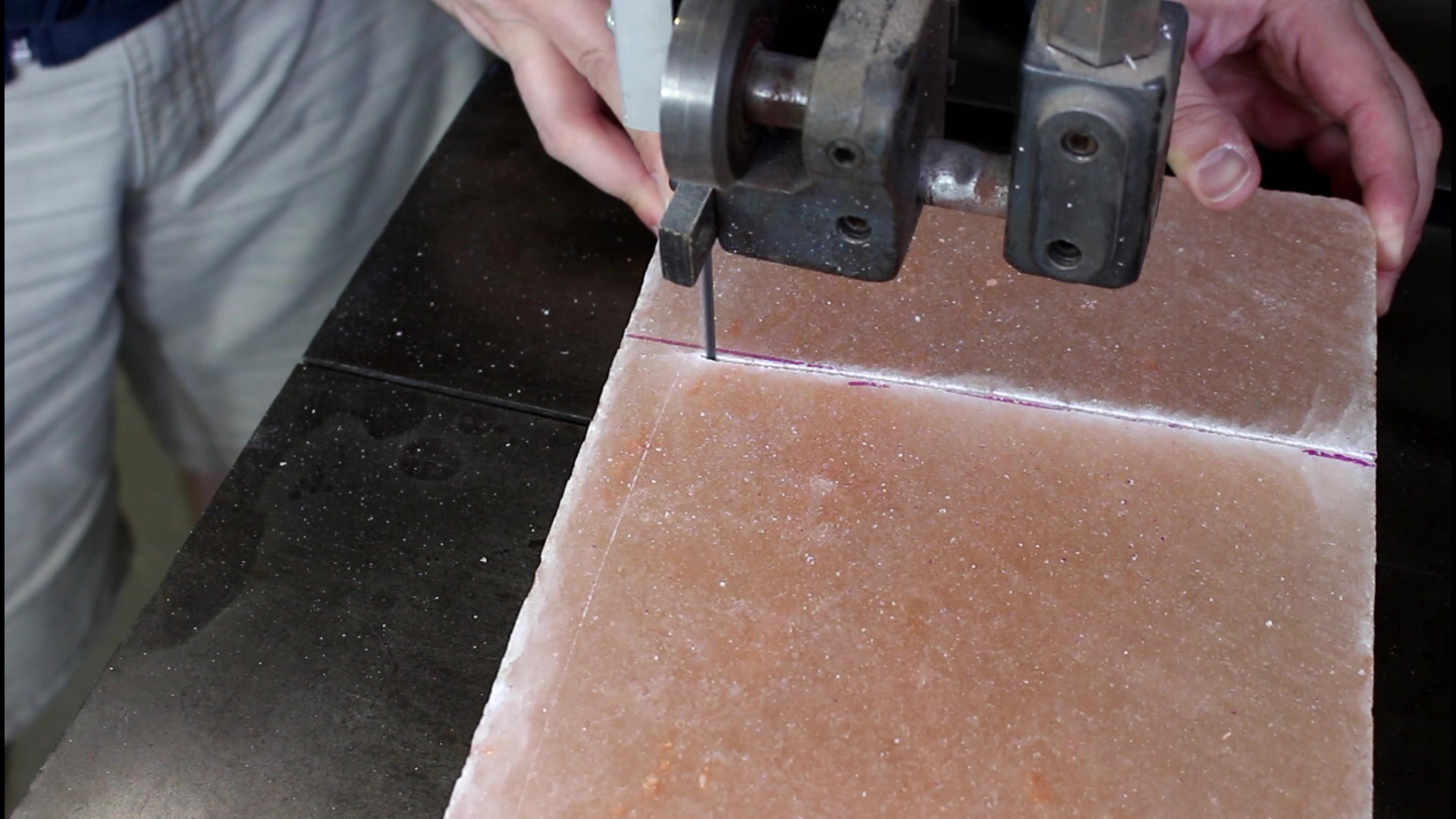 Picture of Cutting the Salt Block
