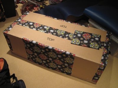 Partially Wrap a Large Shipping Box