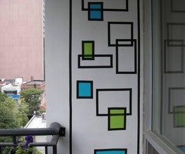 How To Create Wall Art With Electrical Tape