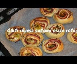 Chili Cheese Salami Pizza Rolls Recipe