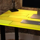 DIY NEON RESIN PLANK TABLE - How to Make Your Own Using GlassCast® 3 Clear Epoxy Resin