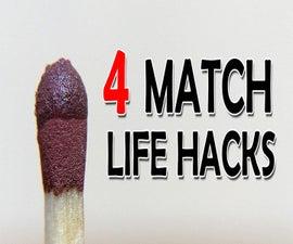 4 New Match Sticks Hacks (Video)