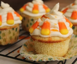 Candy Corn Cupcakes for the Holidays