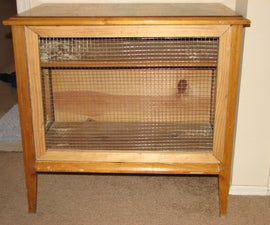 Convert End Table to Rabbit Hutch