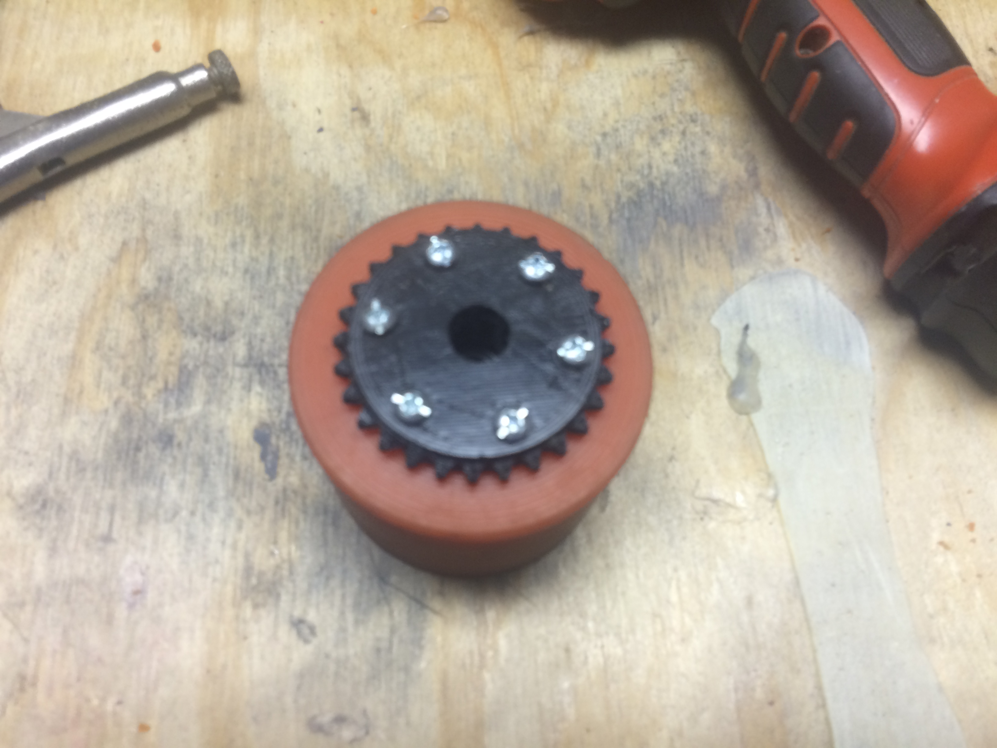 Picture of Adding the Motor Mount and Wheel Sprocket
