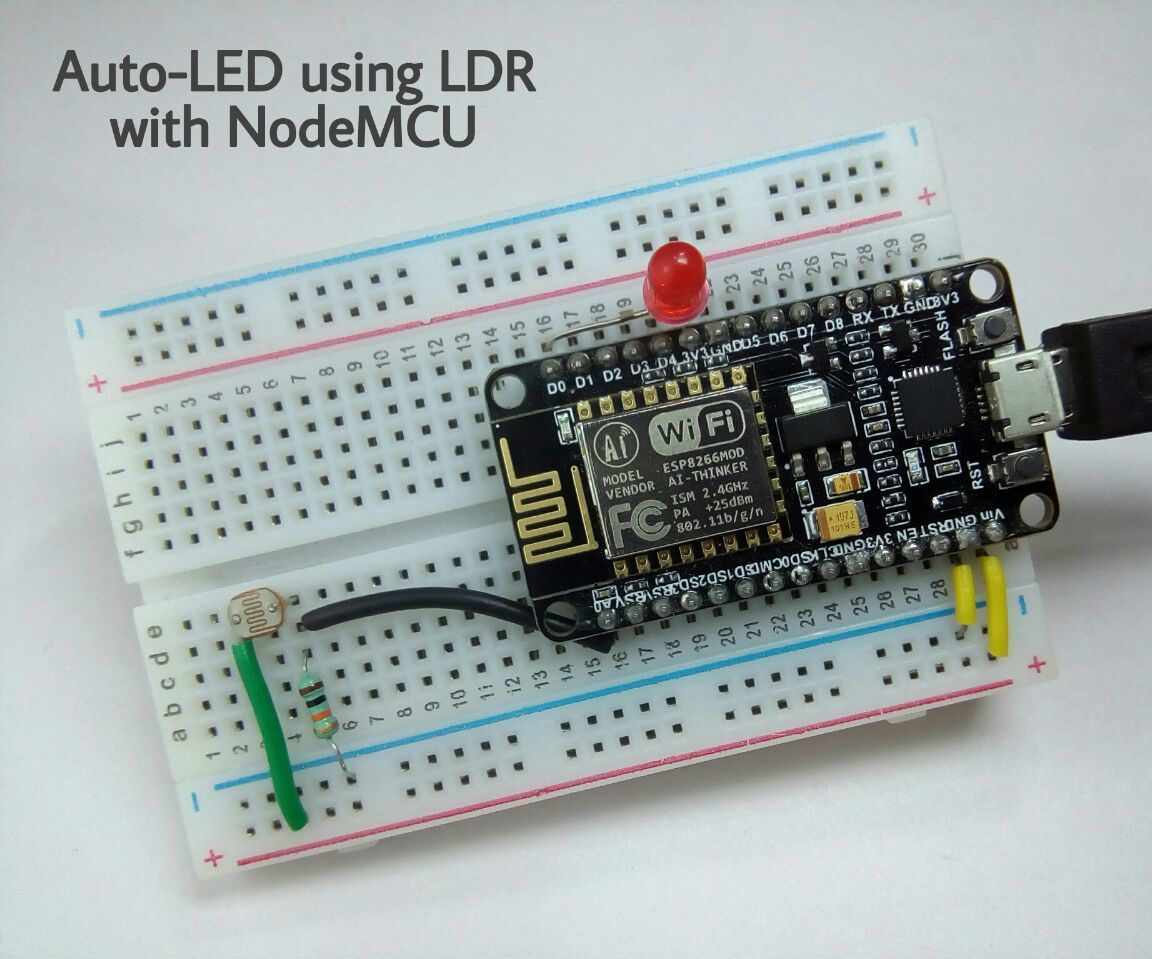 Auto-LED Using LDR With NodeMCU: 4 Steps (with Pictures)