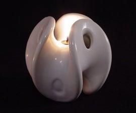 3D Printed Ceramic Oil Lamp