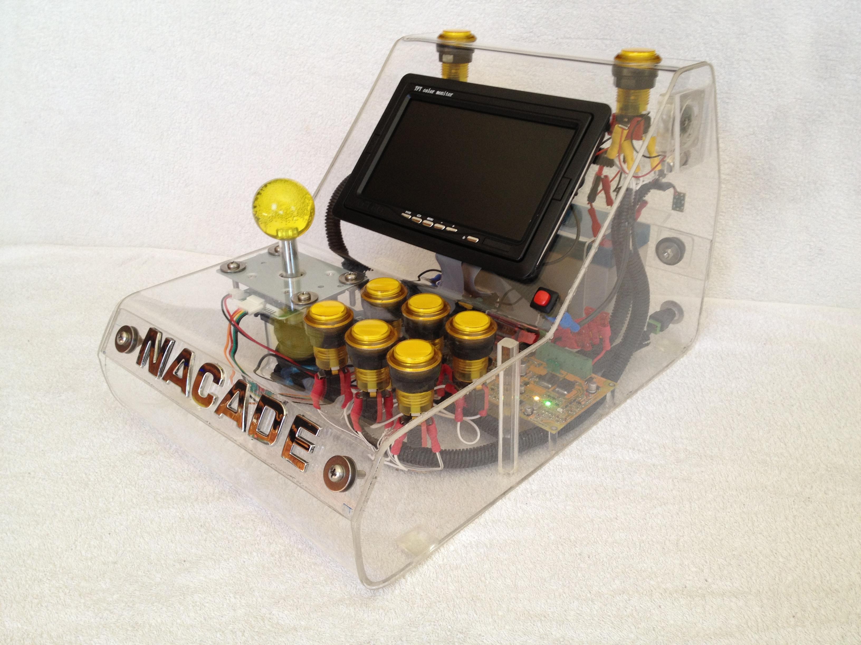 Raspberry Pi Game Cabinet Nacade The Naked Raspberry Pi Arcade Machine 13 Steps With