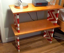 Lego & Wood Bedside Table