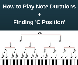 How to Play Note Durations on the Piano + Finding 'C Position'
