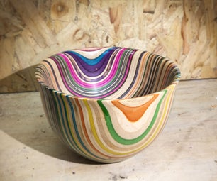 Recycled Skateboard Bowl